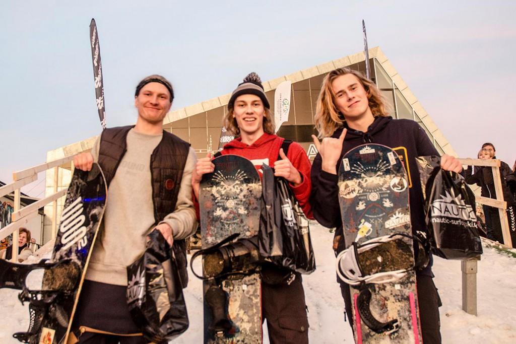 The winners: Joachim Clausen Hansen (3), Lasse Lehwald (1) and Marius Hansen (2) (photo by Alexander Vissing)