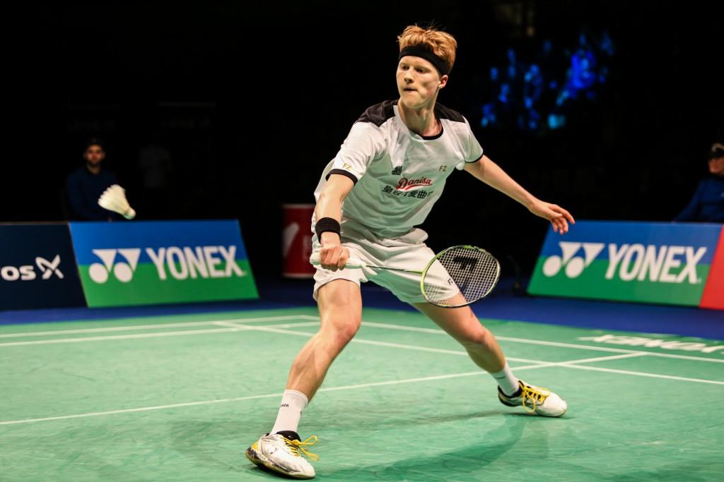 Anders Antonsen, 19, scored an upset victory against world no. 2 Jan Jørgensen in the men's singles final.