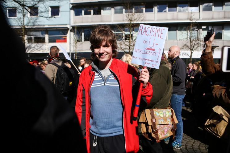 Aarhus demonstrators join fight against racism